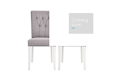 Emily Pair of Upholstered Rollback Chairs in Soft Grey And Walnut on Furniture Village
