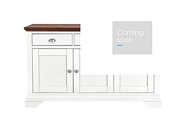 Emily Wide Sideboard in Soft Grey And Walnut on Furniture Village