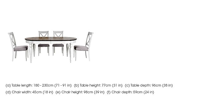 Emily Extending Table and 4 Cross Back Dining Chairs in  on Furniture Village
