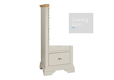 Emily 5 Drawer Tall Chest in Soft Grey And Oak on Furniture Village