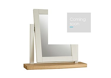 Emily Vanity Mirror in Soft Grey And Oak on Furniture Village