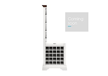 Emily Wine Rack in Soft Grey And Walnut on Furniture Village