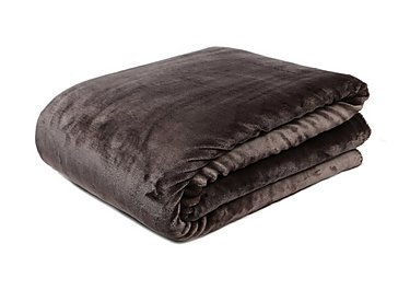 Soft Fleece Throw in Slate on Furniture Village