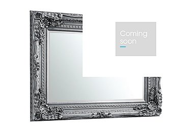 Carved Louis Mirror in Silver on Furniture Village