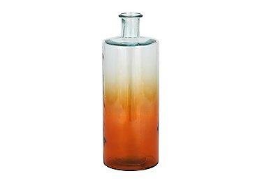 Ombre Bottle Vase in Orange on Furniture Village
