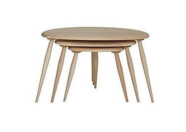 Originals Nest of Tables in Clear Matt Cm on Furniture Village
