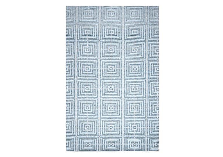 Plaza Bamboo Silk Rug in Blue on Furniture Village