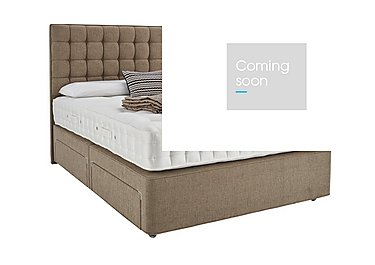 Revive Luxury Silk Pocket Sprung Divan Set in 324 Chocolate Weave on Furniture Village