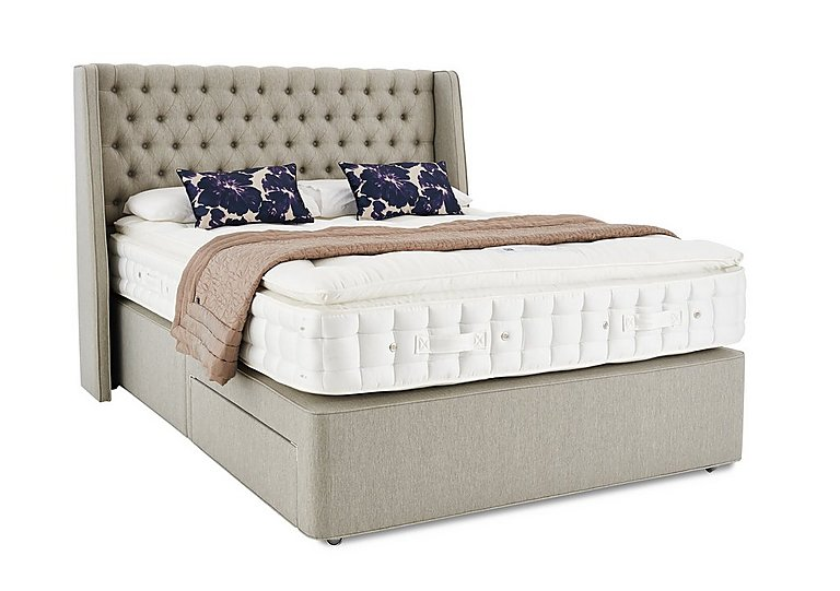 Revive opulent cashmere pocket sprung divan set hypnos for Double divan bed set