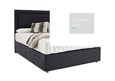 Revive Ortho Wool Pocket Sprung Divan Set in 337 Slate Weave on Furniture Village