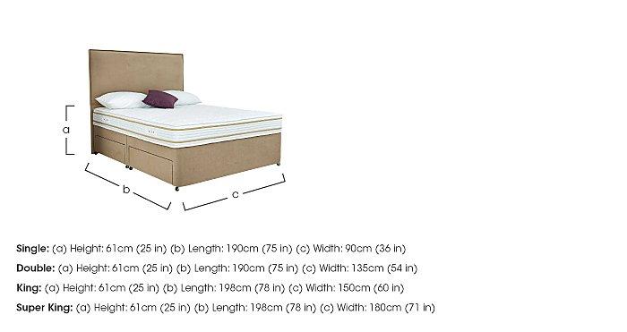 Select Comfort 1200 Divan Set in  on Furniture Village