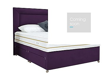 Select Comfort 2000 Divan Set in Aubergine on Furniture Village