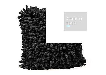 Handstitched Spiky Cushion in Black on Furniture Village