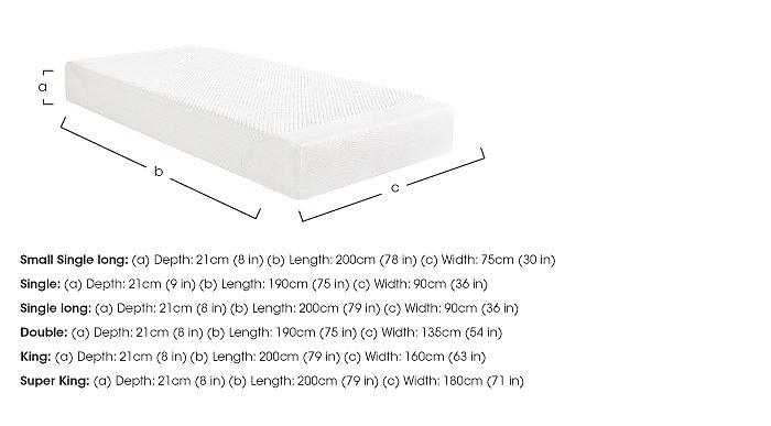 Cloud 21cm Memory Foam Mattress in  on Furniture Village
