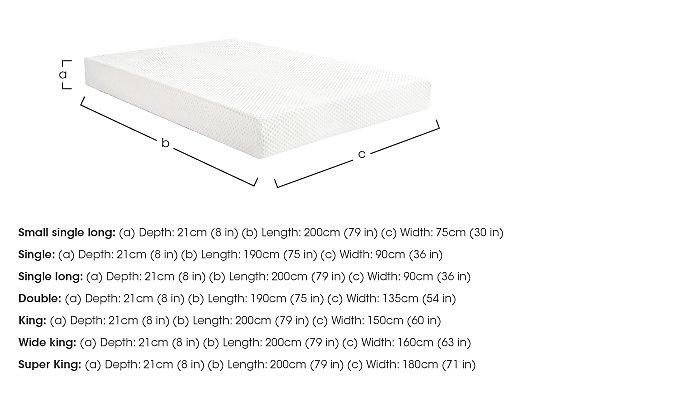 Original 21cm Memory Foam Mattress in  on Furniture Village