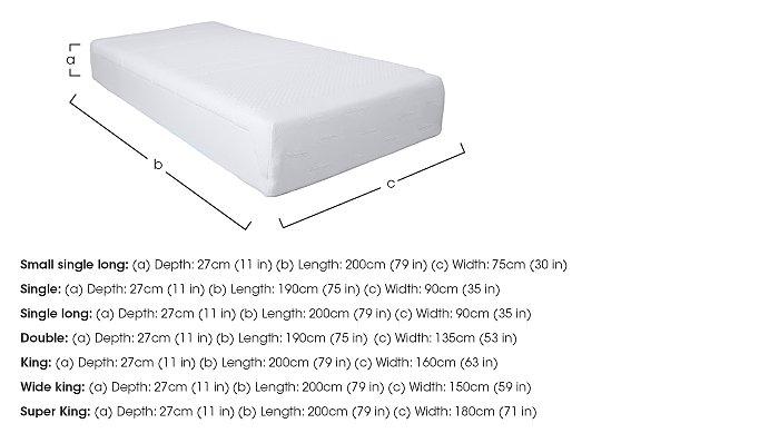 Original 27cm Memory Foam Mattress in  on Furniture Village