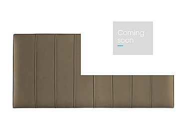 Weydon Headboard in Herringbone Clay on Furniture Village