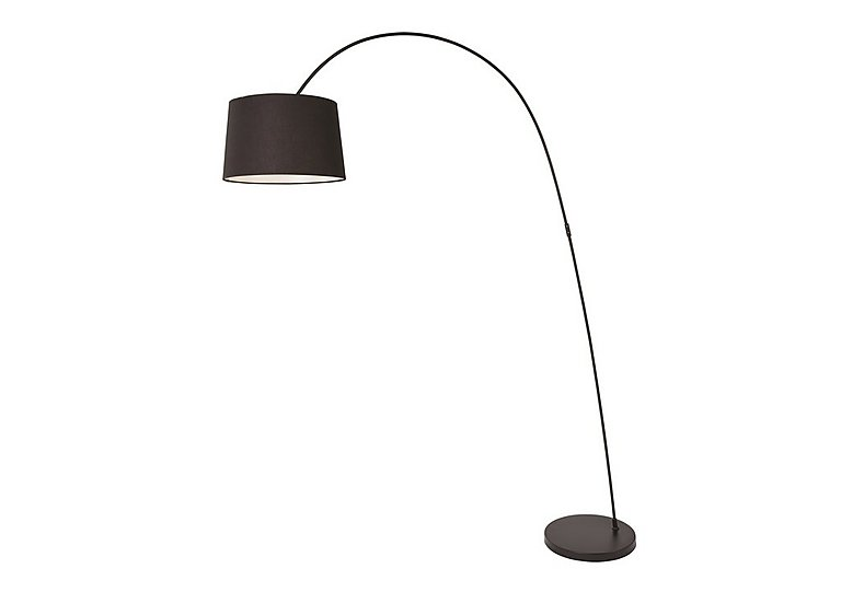 Zoran Floor Lamp in Black on Furniture Village