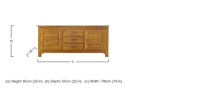 Horizon Large Sideboard in  on Furniture Village