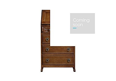 Old Charm Ladies Bureau in Light Oak Traditional on Furniture Village