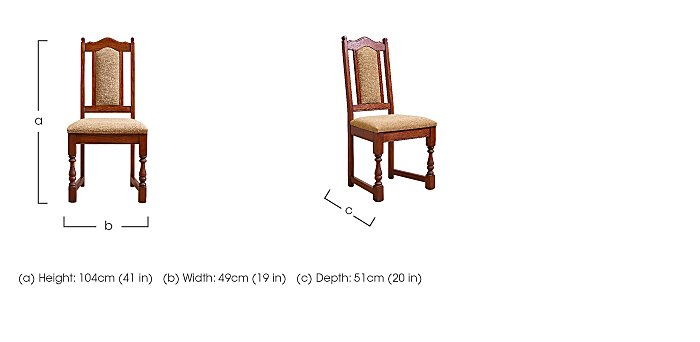 Old Charm Dining Chair in  on Furniture Village