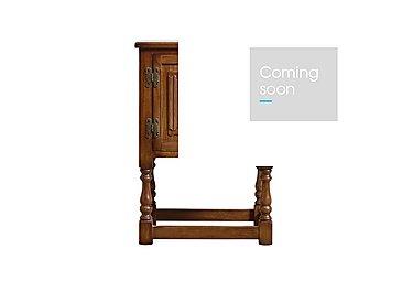 Old Charm Pedestal Cabinet in Light Oak Traditional on Furniture Village