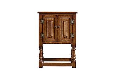 Old Charm Aldeburgh Pedestal Cabinet in Light Oak Traditional on Furniture Village