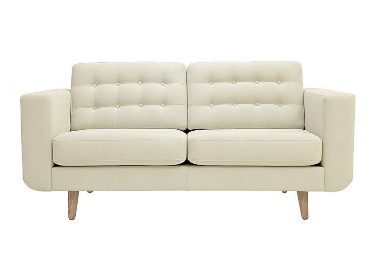 Alva Large 2 Seater Fabric Sofa in Amafli-19205 Sand-Natural Feet on Furniture Village