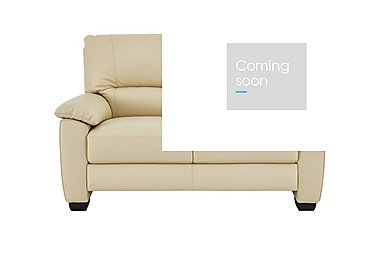 Apollo 2 Seater Leather Sofa in Bv-004c Bone on Furniture Village