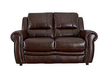 Arizona 2 Seater Leather Recliner Sofa in Go/S 174e Mahogany on Furniture Village