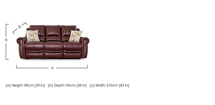 Arizona 3 Seater Leather Recliner Sofa in  on Furniture Village