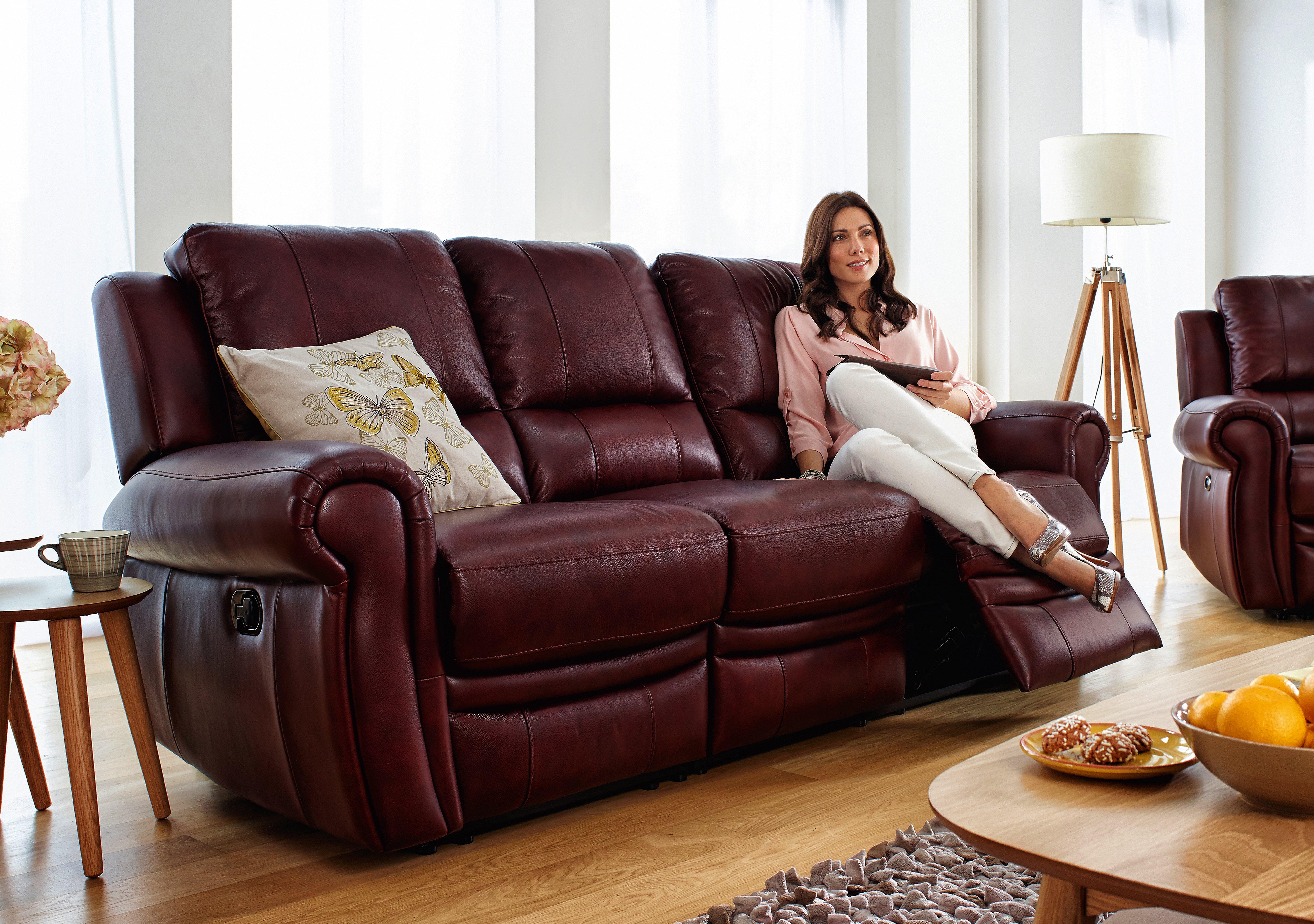 Arizona 3 Seater Leather Recliner Sofa Furniture Village