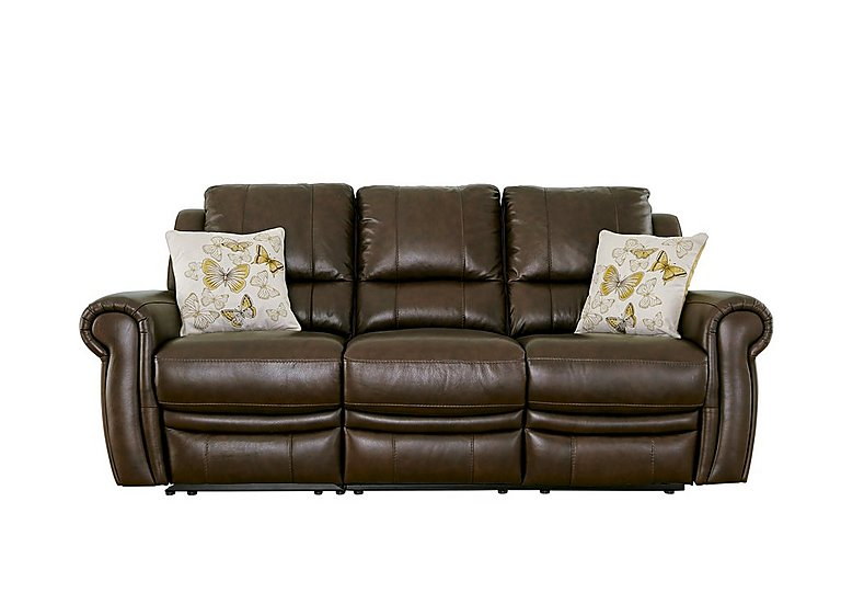 Arizona 3 Seater Leather Recliner Sofa in Go/S 182e Sequoia on Furniture Village