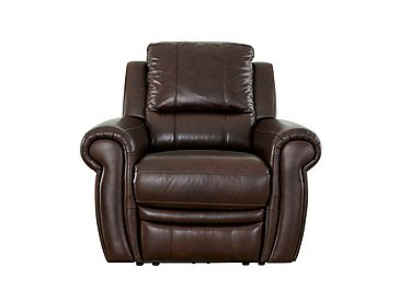 Arizona Recliner Leather Armchair in Go/S 174e Mahogany on Furniture Village