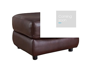 Arizona Leather Storage Footstool in Go/S 182e Sequoia on Furniture Village