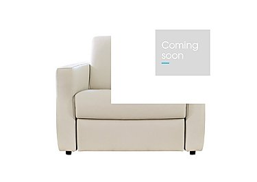 Arona Leather Armchair in Denver 10bl Warm White on Furniture Village