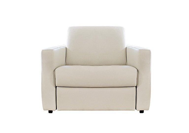 Arona Leather Armchair in Denver 10bl Warm White on Furniture Village