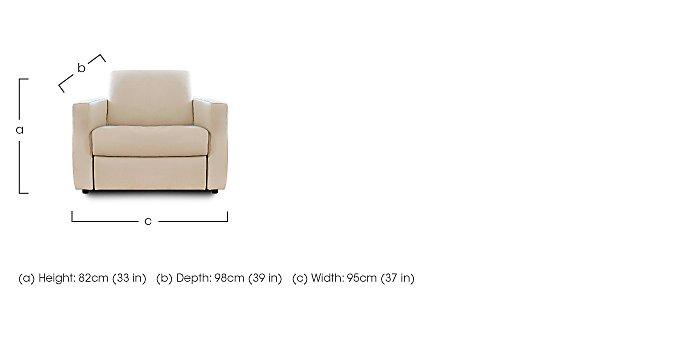 Arona Leather Armchair in  on Furniture Village