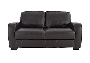Astor 2 Seater Leather Sofa in Go-174e Mahogany on Furniture Village