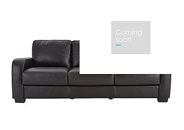 Astor 3 Seater Leather Sofa in Go-174e Mahogany on Furniture Village