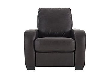 Astor Leather Recliner Armchair in Go-174e Mahogany on Furniture Village