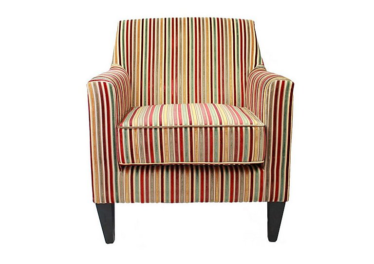 Baxter Fabric Armchair in Candy 069617 Dark Wood on Furniture Village