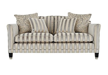 Belgrave 2.5 Seater Fabric Sofa in Fotheringay Stripe Mo Pearl on Furniture Village