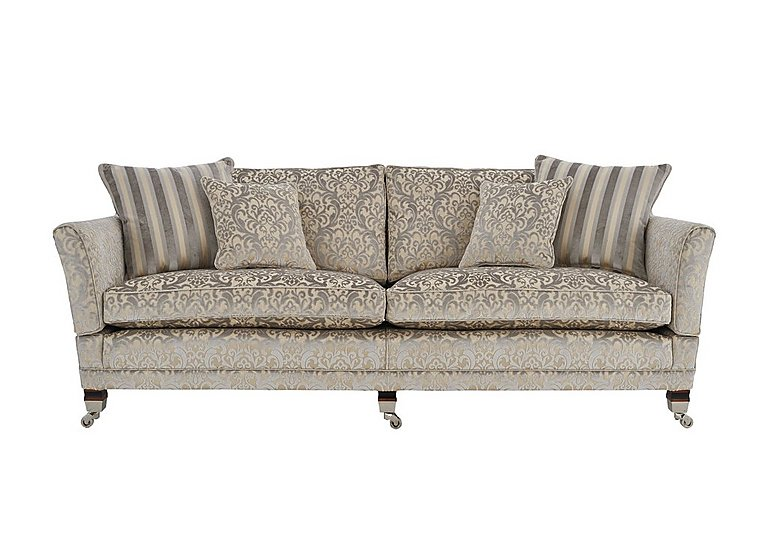 Berkeley 4 Seater Fabric Sofa in Fairweather Mother Of Pearl on Furniture Village