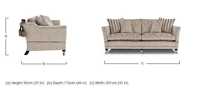 Berkeley 4 Seater Fabric Sofa in  on Furniture Village