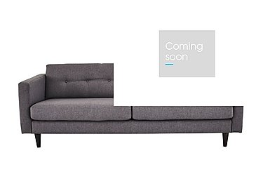 Buttons Large 2 Seater Fabric Sofa in Fab-Bll-13 Ash on Furniture Village