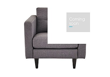 Buttons Fabric Armchair in Fab-Bll-13 Ash on Furniture Village