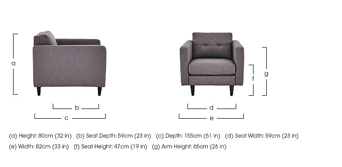 Buttons Fabric Armchair in  on Furniture Village
