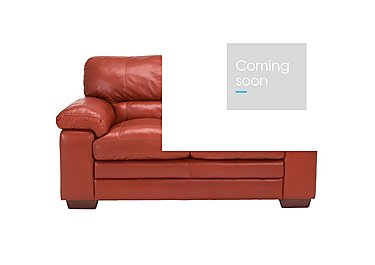 Carolina 2 Seater Leather Sofa in Mb-441c Red on Furniture Village