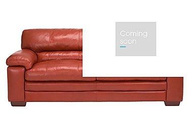 Carolina 3 Seater Leather Sofa in Mb-441c Red on Furniture Village